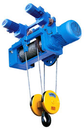 Portable Standard Headroom Trolley Wire Rope Hoists SH Type 1/4 Fall For Single Girder